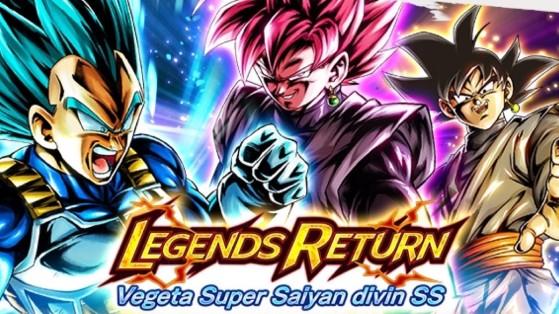 Legends Returns Végéta Super Saiyan Divin SS - Dragon Ball Legends