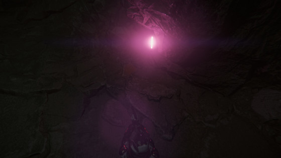 Bâtons lumineux marquant le chemin en profondeur - Star Citizen