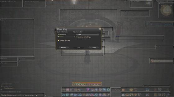 FFXIV changer la taille de l'ATH - Final Fantasy XIV