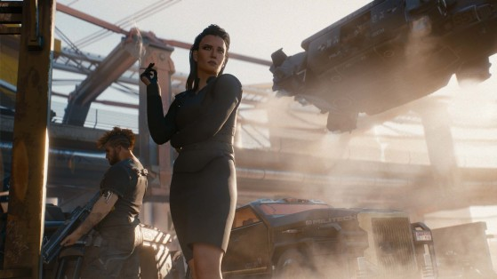 Une des missions de V de l'intro du jeu est réalisée pour Militech - Cyberpunk 2077