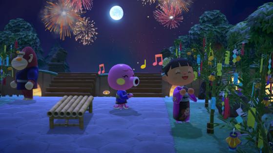 Animal Crossing New Horizons : Feux d'artifice et mise à jour d'aout