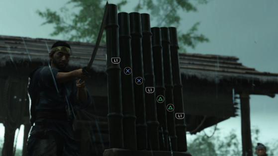 Soluce Ghost of Tsushima : Position des Bambous d'entraînement à couper