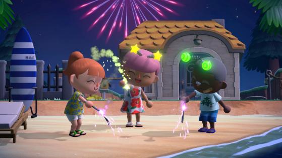 Animal Crossing New Horizons : feux d'artifice, dates en aout