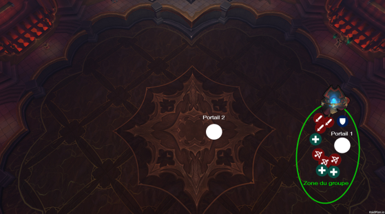 Positionnement du raid, du boss et des portails en Phase 3 - World of Warcraft