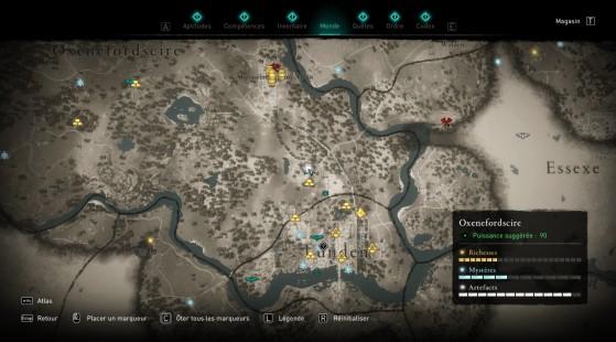 Localisation de la carte au trésor - Assassin's Creed Valhalla