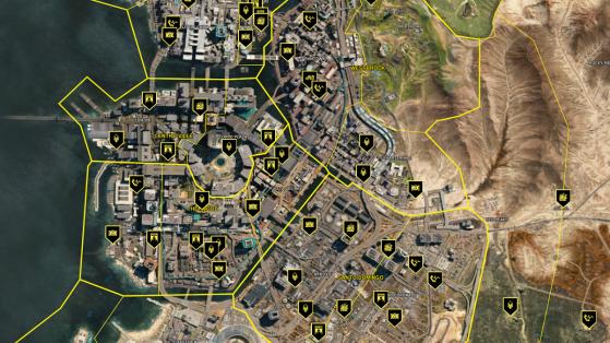 Carte interactive Cyberpunk 2077 :  loot, quêtes, secrets... Tous les emplacements