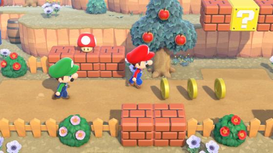 Animal Crossing New Horizons : la liste des meubles Mario