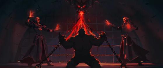 Garrosh dans la cinématique Les Eternités - Revendreth - World of Warcraft