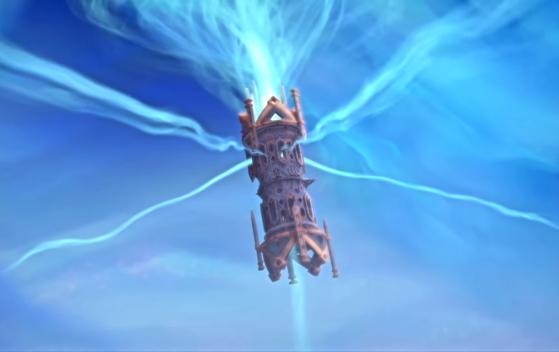 Les flux d'âmes transitant par Oribos dans la cinématique présentant le rôle de l'Arbitre - World of Warcraft