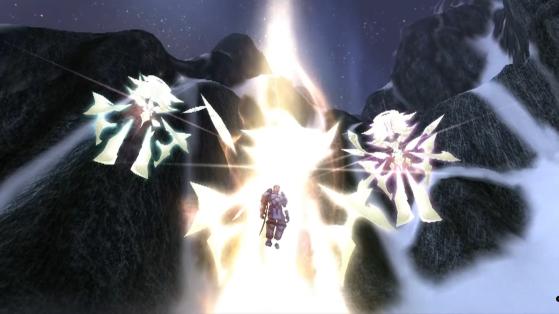 A la Couronne de Glace, les naaru emmènent le Croisé Bridenbrad dans la Lumière pour lui éviter de tomber sous l'influence du Fléau - World of Warcraft