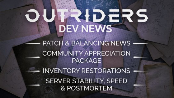 Outriders : patch note post-lancement, équilibrage