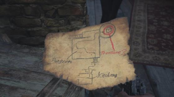 Resident Evil Village : Carte au trésor du château Dimitrescu, où trouver l'objet de valeur ?