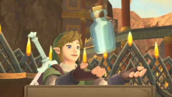 Flacon vide Zelda Skyward Sword HD : Où trouver les 5 fioles ?