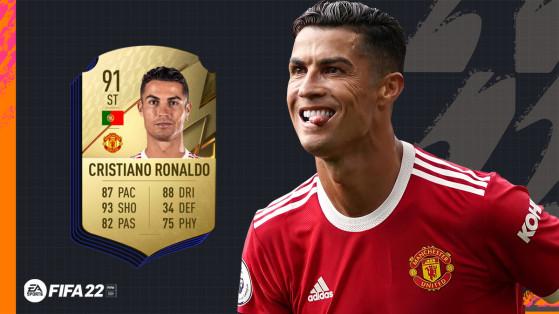 FIFA 22 - Cristiano Ronaldo seulement la 3e meilleure note sur FUT !