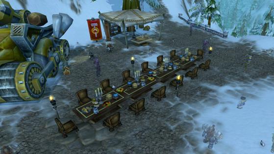 Le banquet de l'Alliance, devant Forgefer - World of Warcraft