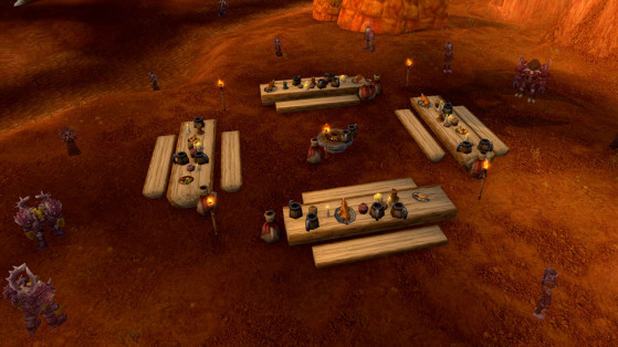 Le banquet de la Horde, devant Orgrimmar - World of Warcraft