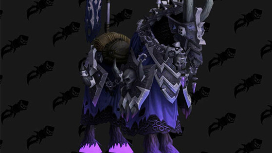 WoW 8.1: Cheval d'os noir vicieux (Vicious Black Bonesteed)