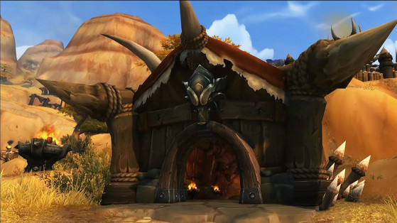 L'entrée de la base de la Horde au Patch 8.1 - World of Warcraft