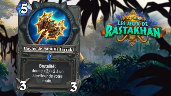 Hearthstone Jeux de Rastakhan : Hache de bataille farraki (Battle Axe)
