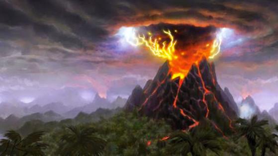 Le Cratère abrite un volcan en son centre. Pas de dragon légendaire à y réveiller, mais quelques intrigues bien ficelées. - World of Warcraft
