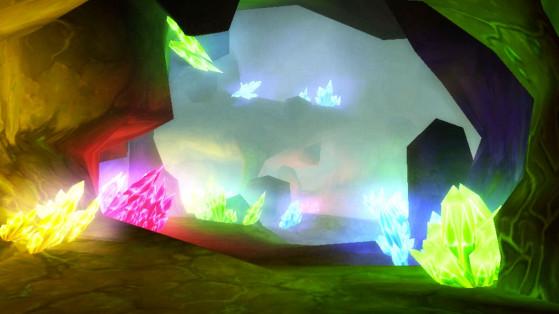 Ah oui, il y a des cristaux de couleurs aussi, mais très franchement, personne n'a jamais compris à quoi ils servaient. - World of Warcraft