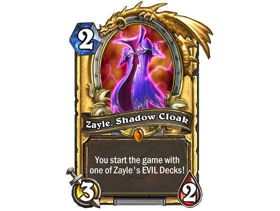Vous commencez la partie avec un des decks maléfiques de Zayle ! - Hearthstone