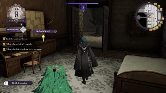 Sothis aperçue dans la chambre de Byleth à l'académie - Fire Emblem Three Houses