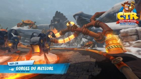 Défi lettres CTR - Gorges du Météore : guide Crash Team Racing Nitro-Fueled