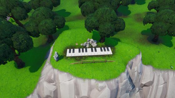 Fortnite : trouver le piano géant et la partition, défi saison 10