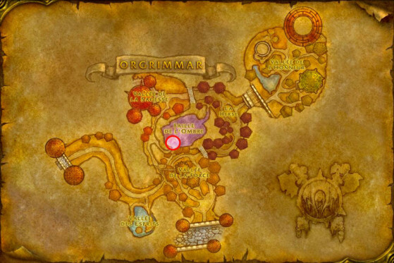 Localisation de Shenthul - WoW : Classic