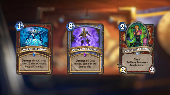 Hearthstone : modification de la mécanique découverte patch 15.2