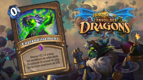 Hearthstone Envol des Dragons : nouveau sort épique Druide Engrandissement