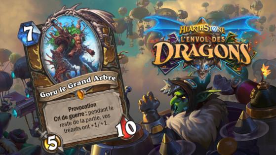Hearthstone Envol des Dragons : nouveau serviteur légendaire Druide Goru le grand Arbre