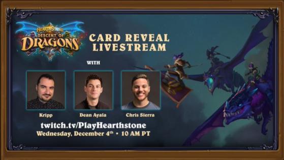 Heartstone l'Envol des Dragons : Live reveal à 19h avec Kripp, Dean Ayala et Chris Sierra