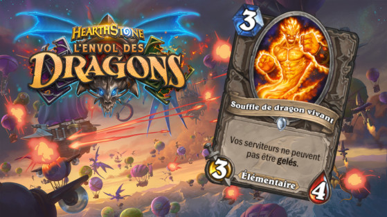 Hearthstone Envol des Dragons : nouveau serviteur commun neutre Souffle de dragon vivant