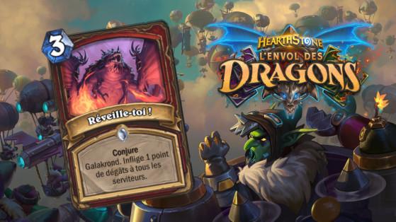 Hearthstone Envol des Dragons : nouveau sort commun guerrier Reveille-toi !