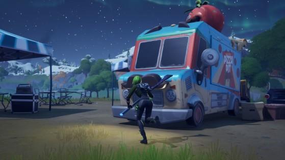Fortnite : Visiter plusieurs food trucks, défi