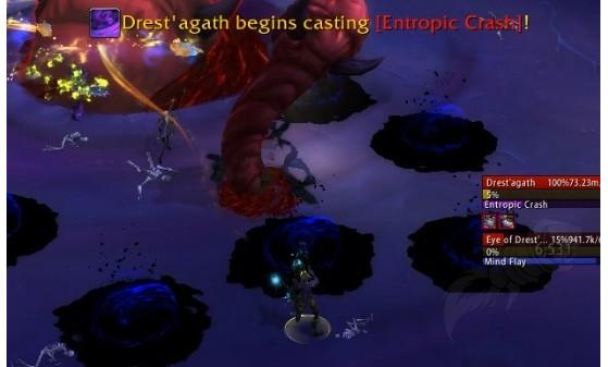 Les joueurs doivent soak l'Ichor imprégné de Vide pour pouvoir infliger des dégâts au boss - World of Warcraft