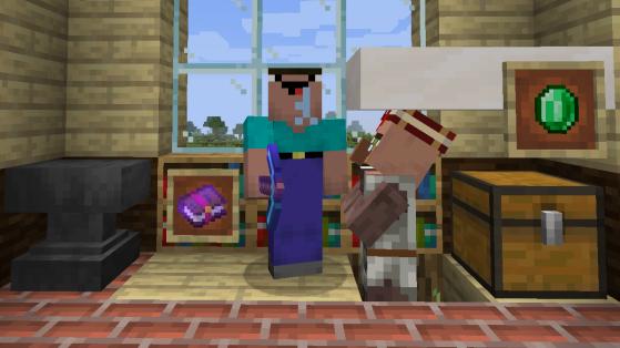 Minecraft : mending, raccommodage, enchantement