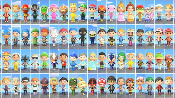 Animal Crossing : le Roster complet de SSBU réalisé dans le jeu
