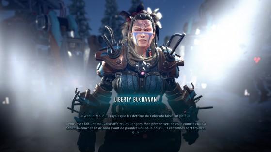 Liberty, la fille du patriarche, avec ses (très gros) robots tueurs. - Millenium