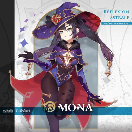 Artwork officiel de Mona - Genshin Impact