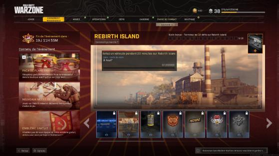 Les défis de la saison 1 de Warzone sur l'évent Rebirth Island