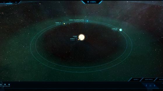 Kabal et ses astres dans la Starmap - Star Citizen