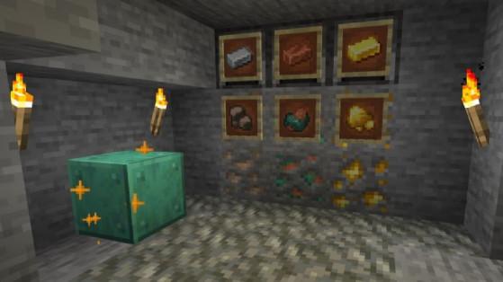 La snapshot 21w14a de Minecraft introduit les minerais bruts !