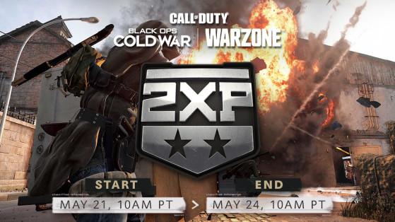 Double XP du 21 au 24 mai sur Black Ops Cold War et Warzone