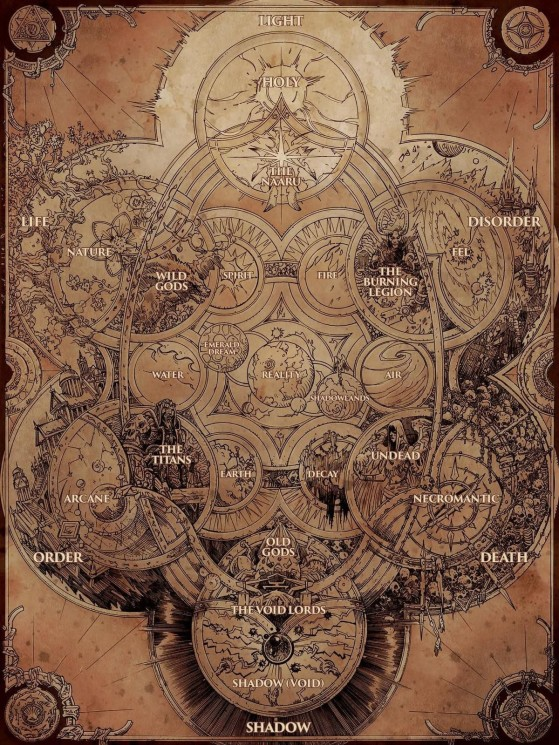 La Cosmologie de l'univers de Warcraft vue par les Titans - World of Warcraft
