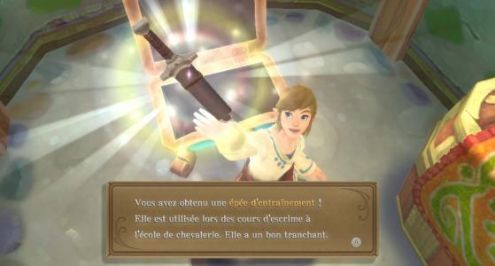 Ouf ! On peut obtenir l'épée directement sans passer par la case entraînement. - Zelda : Skyward Sword HD