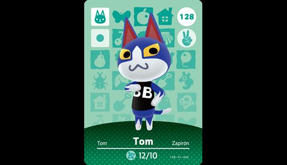 Carte Amiibo de Tom - Animal Crossing New Horizons