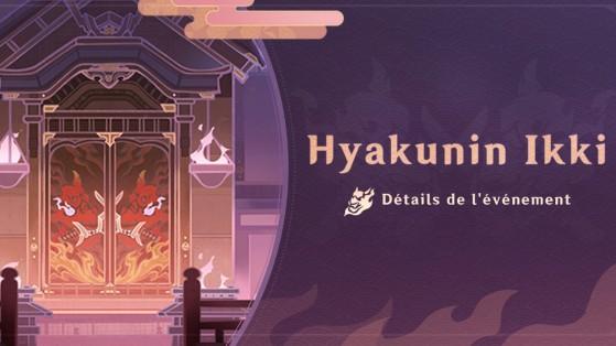 Que faut-il faire dans l'événement Hyakunin Ikki de Genshin Impact ?
